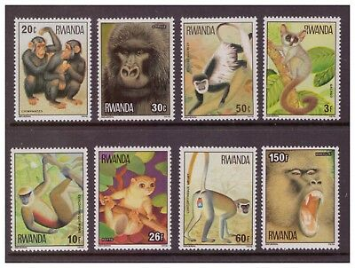 Rwanda MNH 1978 Apes and Monkeys  set mint  stamps