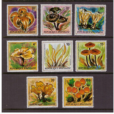 Rwanda MNH 1980 Mushrooms Plants Nature set mint stamps