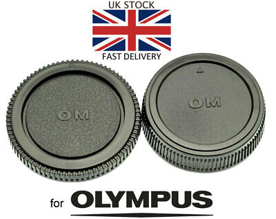 NEW Body & Rear Lens Cap For Olympus OM Mount *UK Seller* SLR Film Camera / Lens