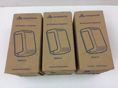 NEW (3) Georgia-Pacific Air Freshener Dispensers Model A-3 TS0720 Cormatic