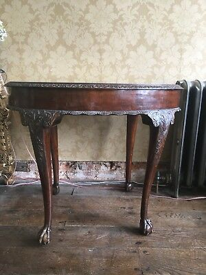 Antique Chippendale Style Mahogany Oval Period Occasional Table