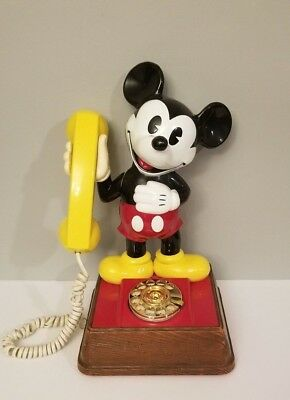 Mickey Mouse Phone 1976 Vintage Disney American Rotary Telecommunication Corp 14