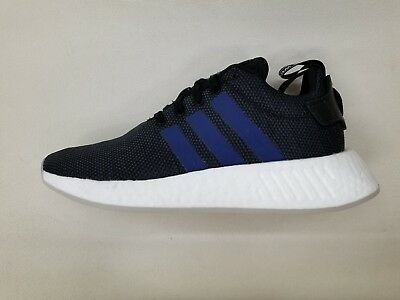 ADIDAS ORIGINALS NMD_R2 Boost Black Blue White Womens Size