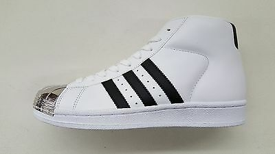 hot sale online 44a50 c49f1 Adidas Originals Pro Model Metal Toe White Silver Womens Size Sneakers  Bb2131