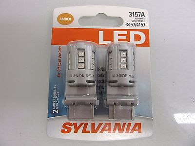 SYLVANIA ZEVO LED SUPER BRIGHT 3157A 3457 4157 LED SET OF 2 BRAND NEW Bulbs