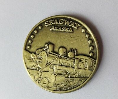 New MILANO DIAMOND GALLERY Skagway Alaska Train Promotional Coin