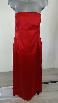 Womens Debut Red Satin Cocktail Dress Evening Uk 14 New With Tags
