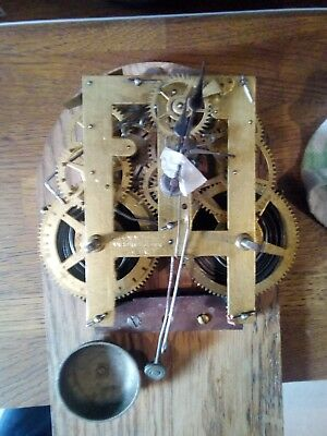 Antique ANSONIA (USA) Shelf/Wall Clock Movement, Spares/Repair