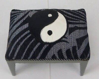 Funky Ying Yang Small Footstool Unique Handcrafted by our Artisans