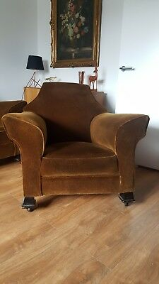 art deco style furniture velour green/brown