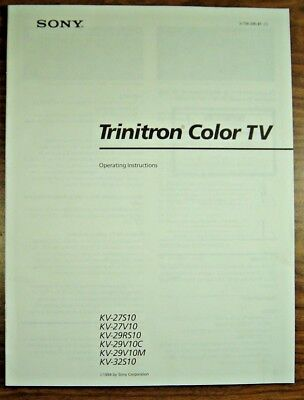Sony Trinitron Color TV Operating Instructions Manual 1994 Various KV Models