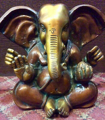 Ganesh Hindu God For Fortune Ganesha Hand made in Brass ,Nepal Special