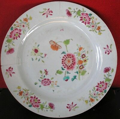 18th Century Chinese Polychrome Decorated Plate