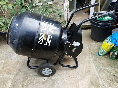 electric concrete mixer - little used with stand