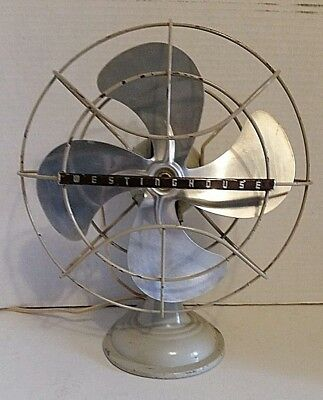 """Vintage Westinghouse Oscillating Fan Retro Art Deco Table or Wall Mount 11"""""""