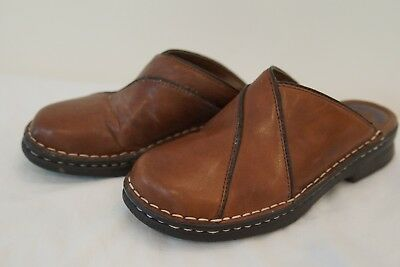 Dr. Scholl's Margie Brown Leather Shoes Size 6 Slip On Casual Mules