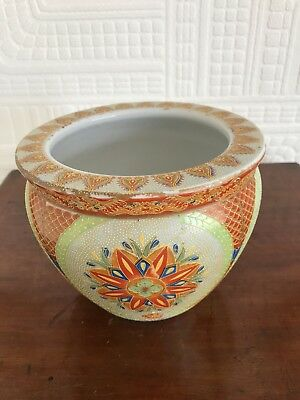Great Vintage Oriental Style Plant Pot