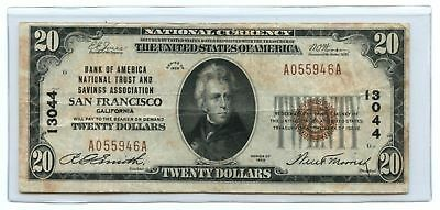 1929 $20 Ty 1 Bank of America National Trust & Savings Assoc. San Francisco, CA