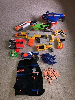 Nerf Massive Bundle. Recon Cs-6, Diatron, Hail-fire, N-Zombie Strike, Roughcut