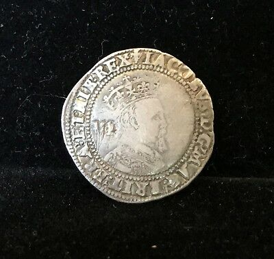 1604 Great Britain Sixpence 6 Pence, James I Silver S-2657 3rd Bust, Nice Grade