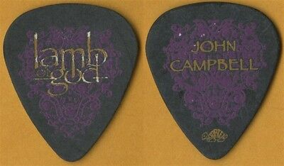 Lamb of God John Campbell authentic 2007 Sacrament tour custom stage Guitar Pick