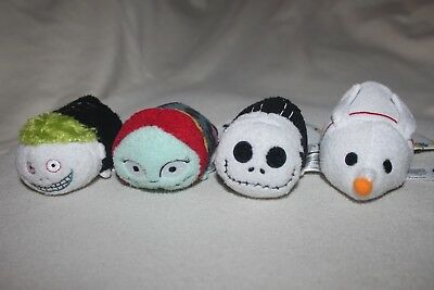 "4 A NIGHTMARE BEFORE CHRISTMAS TSUM TSUM 3.5"" Plush inc JACK SKELLINGTON + SALLY"