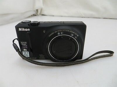 Nikon Coolpix S9100 12.1MP Point & Shoot Digital Camera w/ Battery - Untested