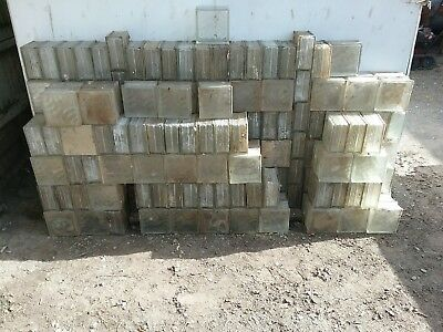"""Lot of 100 Glass Block Cube Window Squares Architectural 7.75"""" X 7.75"""" X 3.875"""""""