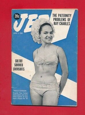 JET MAGAZINE 6/3/1965 PATERNITY PROBLEMS OF RAY CHARLES White woman mixed fired