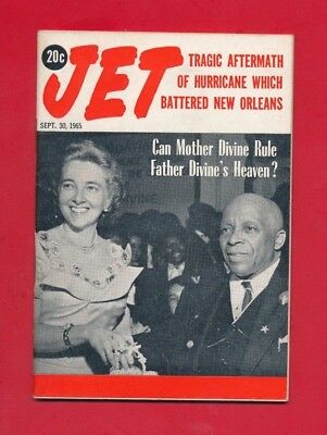 JET MAGAZINE 9/30/1965 MOTHER DIVINE RULE FATHER DIVINE HEAVEN Hurricane Betsy