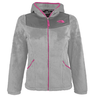 The North Face Girls' Oso Hoodie Metallic Silver XL