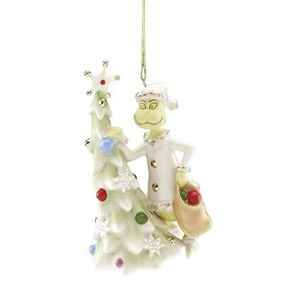 Lenox Disney Greedy Grinch Annual Ornament 2018 $50=FreeShipUS