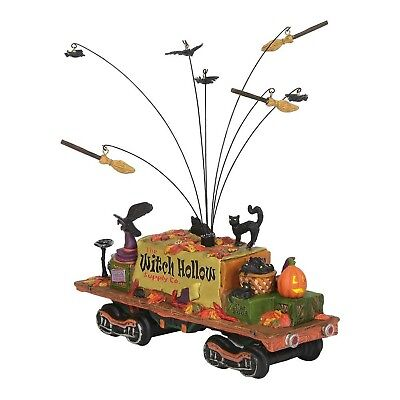Department 56 Halloween Witch Hollow Supply Car Haunted Rails 6002302 NEW