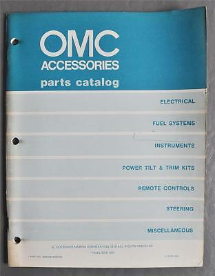 Orig 1979 Outboard Marine Accessories Parts Catalog P/N 8005033/390749 Final Ed