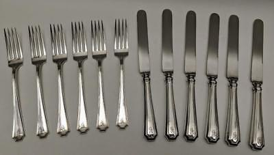 GORHAM /DURGIN FAIRFAX STERLING SILVER Rare 12 piece Youth / Tea Forks & Knives