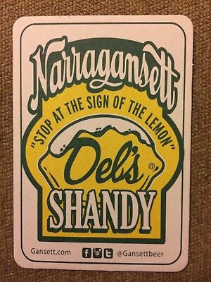 Narragansett Beer Del's Shandy Beer Coaster Rhode Island Lemonade