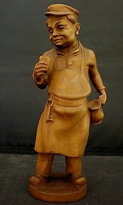 Black Forest Carved Figure Of An Inn Keeper