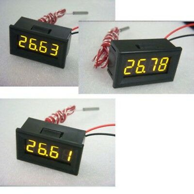 0.36 Yellow LED -200℃ to 450℃ Digital Thermometer PT100 Temperature Sensor CAR