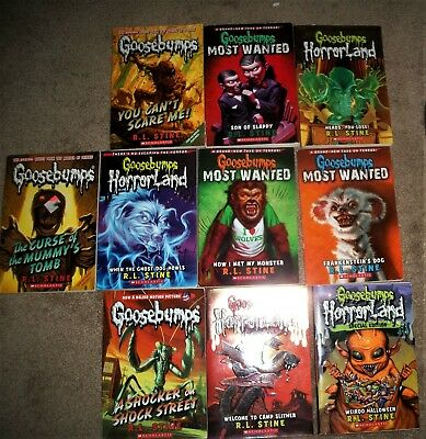 """10 New """" Goosebumps """" Paperback Books. By R.l. Stine. Great Collection"""