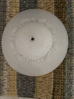 Vintage Frosted ceiling light shade cover white frost exterior, clear inside