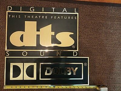 Dolby Digital and DTS Home Theater Plaque Sign Original Authentic RARE