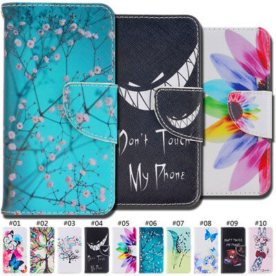 For Apple iPhone SE/5S Flip Stand Wallet PU Leather Card Slot Luxury Case Cover