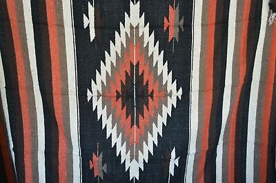 Mexican Blanket Tribal Diamond in Negro Burnt Umbre PREMIUM XL Handwoven Throw