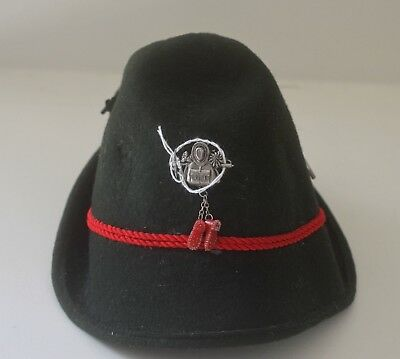 Choice Vintage Child's Tyrolean Vintage Loden Hat With Charms Tt121