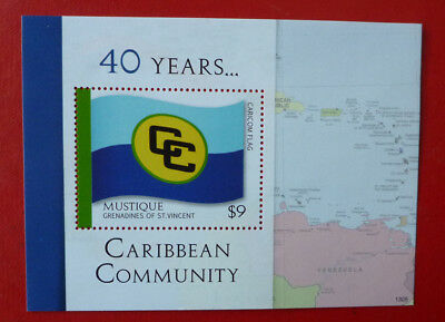 2013 St VINCENT 40yrs CARIBBEAN COMMUNITY MUSTIQUE STAMP MINI SHEET 2