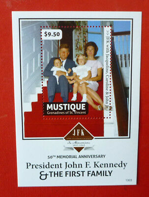2013 St VINCENT 50TH ANNIV JFK MEMORIAL MUSTIQUE STAMP MINI SHEET 2