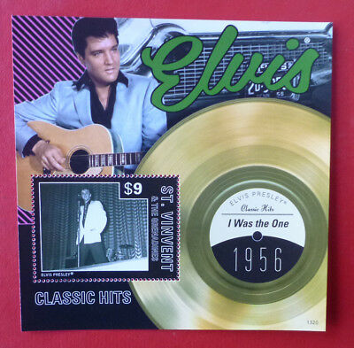 2013 St VINCENT ELVIS HITS I WAS THE ONE STAMP MINI SHEET
