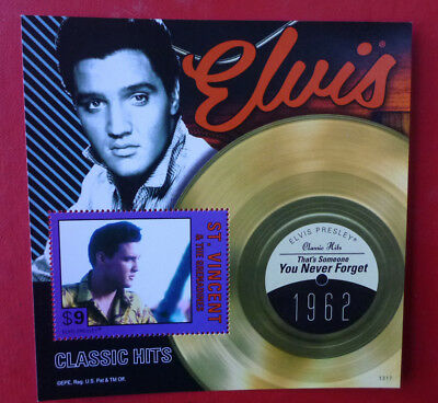 2013 St VINCENT ELVIS HITS YOU NEVER FORGET STAMP MINI SHEET
