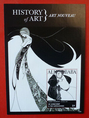 2013 St VINCENT HISTORY OF ART ART NOUVEAU ALI BABA STAMP MINI SHEET