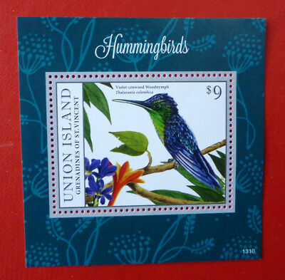2013 St VINCENT HUMMING BIRDS UNION ISLAND STAMP MINI SHEET